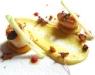 Assaggi di Teatro: cappesante con cidro di mele e zenzero e briciole di pane speziato alle noci