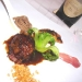 Assaggi di Teatro: il piccione e l'Oriente, gli spagetti di soba, la salsa alle fave di tonka e il cacao