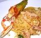 Assaggi di Teatro: spaghetti con Scampi, fiore di zucca e pecorino romano