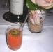 Gazpacho di pomodoro e zucca con uova di riccio e sedano concassé