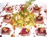 Assaggi di Teatro: ventresca di tonno con foie gras ai fichi e puntarelle con aceto di Marsala