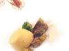 Assaggi di Teatro: Flan di mazzancolle, carciofi romani e crema di aglio dolce
