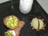 Assaggi di Teatro: Cannoli di ricotta on gelato al pistacchio e spuma di Anice