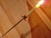 Assaggi di Teatro: un candelabro nella saletta affrescata