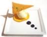 Assaggi di Teatro: Fior di panna all'arancia e cialda al pistacchio