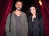 Maria Luisa Basile, ideatrice del progetto Assaggi di Teatro e Sliman Siclari (Feudi della Medusa) all'inaugurazione del Valle