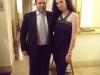 Assaggi di vino: Maria Luisa Basile e il Sommelier Massimo Troiani durante la degustazione- performance dedicata a Sotto paga! Non si paga!