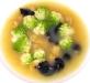 Assaggi di Teatro: zuppa di Arzilla e broccolo romanesco con cappelletti bianchi e al nero di Seppia