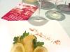 Assaggi di Teatro: baccalà islandese fritto con polvere di paprika e Albithia Feudi della Medusa