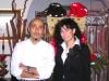 Assaggi di teatro: la giornalista Maria Luisa Basile ideatrice di Assaggi di teatro e Anthony Genovese chef de Il Pagliaccio