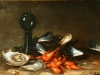 Eugene Parisy nature morte aux fruits de mer