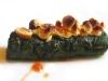 Assaggi di Teatro: cannolo di spinaci con nocciola tonda gentile piemontese