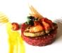 Tartara di vitello, astice e foie gras