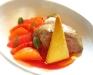 Scaloppa di foie gras in zuppa ristretta di agrumi e sorbetto all'anice stellato di Anthony Genovese - Il Pagliaccio, Roma