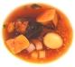 Consommé… di tonno e rape, affumicato all'aringa, fegato grasso, quinoa e castagne di Enrico Crippa - Piazza Duomo, Alba, Piemonte