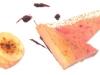 Fegato grasso al torcione in crosta di pop corn, con mele cotogne e gelato al pan di spezie di Anthony Genovese - Il Pagliaccio, Roma