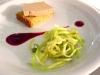 L'insalata di puntarelle romane fa da contorno al foie gras di Antonello Colonna all'Open