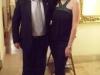 Assaggi di Teatro: Maria Luisa Basile, ideatrice del progetto Assaggi di Teatro con il Sommelier Massimo Troiani durante la performance dedicata a Dario Fo