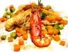 Assaggi di Teatro: scampi, gamberi rossi e verdure