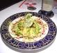Assaggi di Teatro: Polpette di pesce, foglie di salvia fritta, cous cous e crema di barbabietola rossa