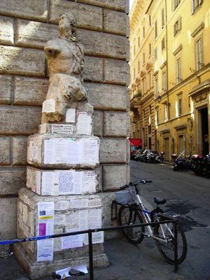 Pasquino statua parlante